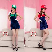 masquerade halloween costumes for womens red green super mario plumbers couples costume dress masquerade