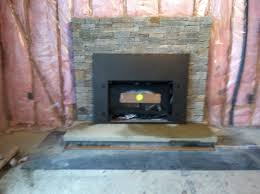 real stone veneer fireplace reface youtube