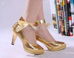 wedding shoes gold color fabulous wholesale gold cheap wedding shoes high heels womens