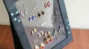 earring holder necklace images Diy jewelry organizer earring holder jpg