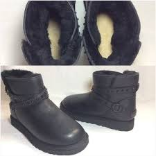 ugg womens emerson boots chestnut 47 ugg shoes ugg emerson black leather studded mini boots