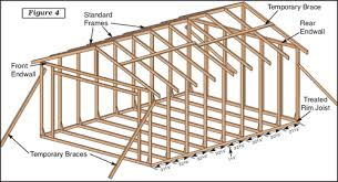 How To Build A Wood Floor With Pole Barn Construction by E Z Frame Shed 12 U0027