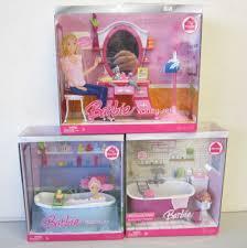 Vanity Playset 3 New Mattel Barbie Doll My House Playset Bathtub Toilet Vanity