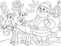 santa reindeer coloring pages color