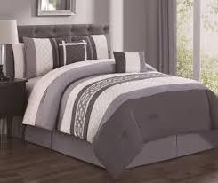 Ivory Comforter Set King Aprima Dale Gray U0026 Ivory 10 Piece Comforter Sets Big Lots