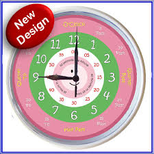 time learning clock learn to tell time what the time clock pink 25cm ebay