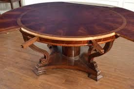 round dining table perimeter leaves burled table walnut round perimeter leighton hall furniture