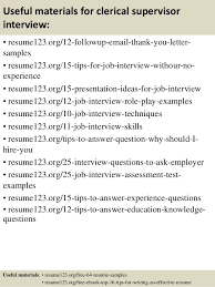 top 8 clerical supervisor resume samples