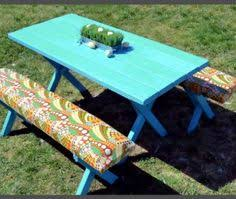 picnic table seat cushions kids picnic table with free plans outside things pinterest