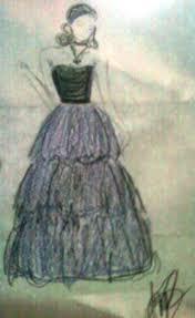 prom dress sketch by amycici on deviantart