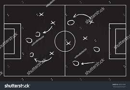space plan game football soccer game strategy plan isolated stock vector 360512366