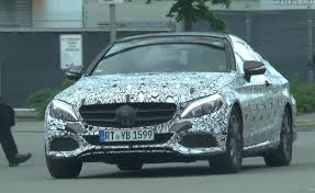 mercedes c230 coupe specs 2016 mercedes c class coupe with production spec spotted