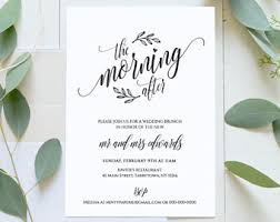 wedding brunch invitation post wedding brunch invitation printable the morning after