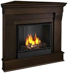 amazon com chateau corner gel fireplace in dark walnut home