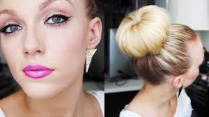 big bun hair big bun ombre lip tutorial