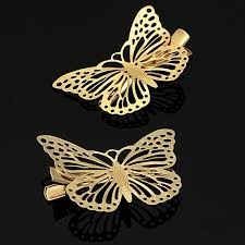 butterfly hair clip hair accessory barrette hollow out metal hairpin butterfly hair