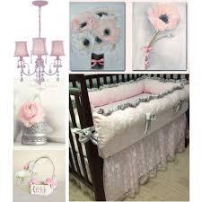Shabby Chic Crib Bedding Pink And Gray Baby Nursery Decor Floral Baby Nursery