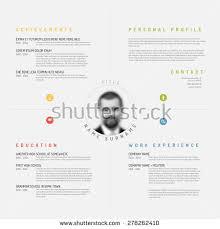 Resume Template Design Vector Original Minimalist Cv Resume Template Stock Vector