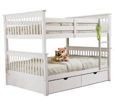 SCAMilan Full Over Full Bunk Bed White Furtado Furniture - Full over full bunk bed with trundle