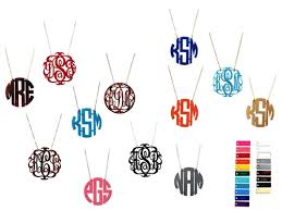 acrylic monogram necklace monogrammed acrylic necklace