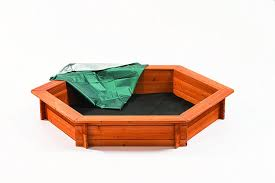 amazon com creative cedar designs hexagon wooden sandbox sports