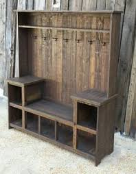 rustic industrial shoe bench made to order diseños pinterest