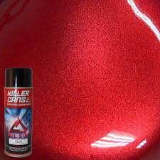 alsa refinish 12 oz candy apple red killer cans spray paint kc ar