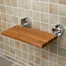 teak modern folding shower seat bathroom