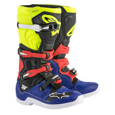 blue motocross boots alpinestars mx boots tech 5 blue black yellow fluo 2018 maciag