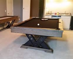 khaki pool table felt the vienna rustic pool table has stylish metal v shaped pedestal legs