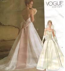 vogue wedding dress patterns vogue pattern 2849 wedding bridal gowns sizes 6 8 10 sewing