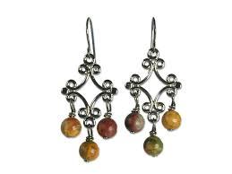 Gunmetal Chandelier Earrings Modern Vintage Jewelry Jules And Rose Jasper And Gunmetal Earrings