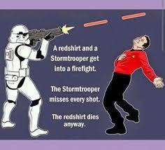 Red Shirt Star Trek Meme - star wars vs star trek meme by imagooch memedroid