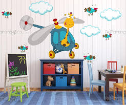 stickers girafe chambre bébé stickers muraux chambre bébé girafe oiseaux artpainting4you eu