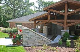backyard portico addition exterior remodel detached garage