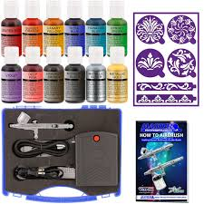 master airbrush cake decorating set 12 chefmaster colors