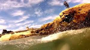 Jumping Light Go Pro Cliff Jumping Light House Field State Beach Santa Cruz Ca