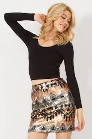 sequin skirt metal sequin skirt você boutique