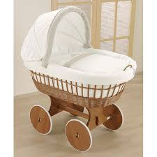 leipold antique wicker bollerwagen crib bababoom baby boutique