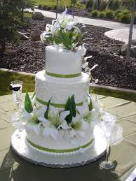 wedding cake green serina green and white wedding cake cakecentral