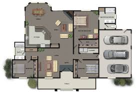 floor plans in color