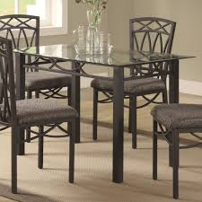Wrought Iron Dining Room Tables Delightful Dining Room Furniture Black Glass Top Rounded Form