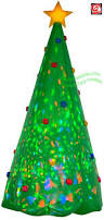 Blow Up Christmas Tree Decoration by Gemmy Airblown Inflatable Kaleidoscope Green Christmas Tree