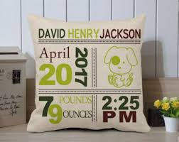 personalized pillows for baby birth pillow etsy