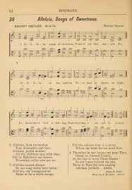 hymns and carols for church and sunday school 38 alleluia song