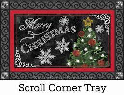 u0026 outdoor merry christmas tree insert doormat