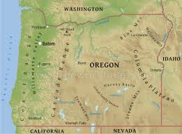 map of oregon state physical map of oregon