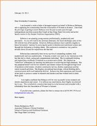 8 sample letters of recommendation for scholarships letter