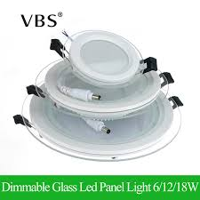 Led Ceiling Can Lights Dimmable Led Panel Light Glass Panel Downlight 6w 12w 18w