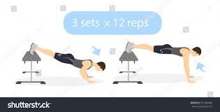 body exercise men on white background stock vector 551965936